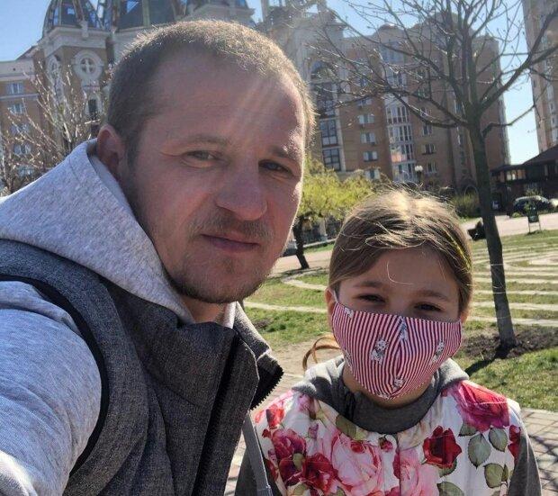 Олександр Алієв з донькою, фото з Instagram