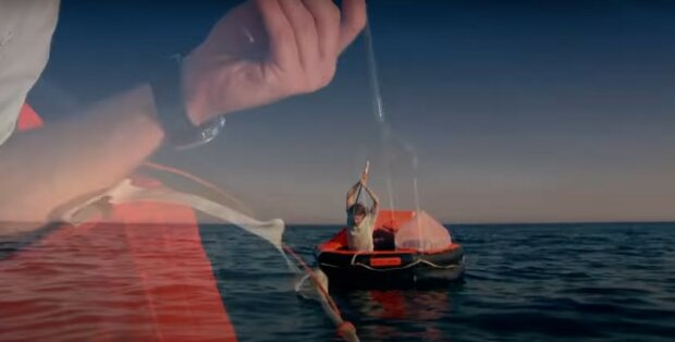 Човен у море, скріншот
