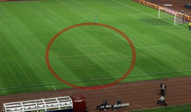 Свастику на поле в Хорватії нанесли за два дні до матчу