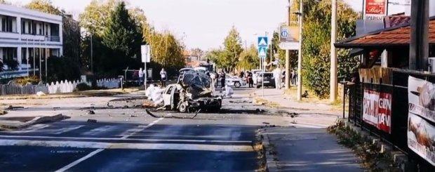 В  Белграде взорвали автомобиль