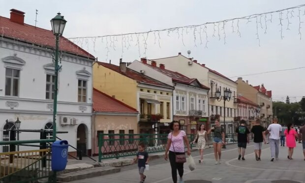 Ужгород, скриншот с видео