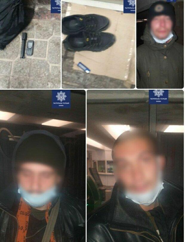 В Киеве задержали подозреваемых в ограблении, фото: Патрульная полиция