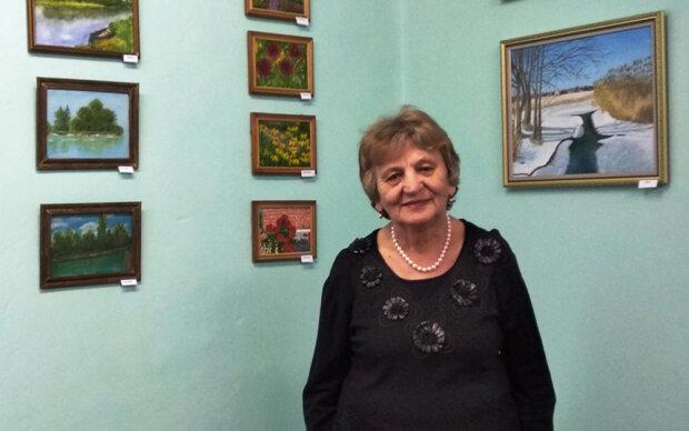 """80-річна жінка  стала художницею, фото """"vikna"""""""