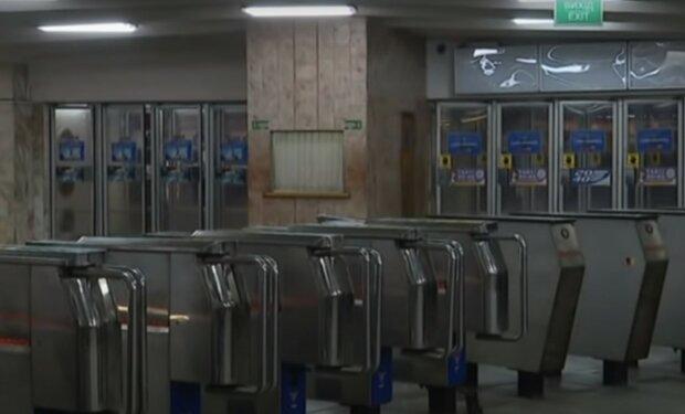 турнікети в метро, скріншот з відео