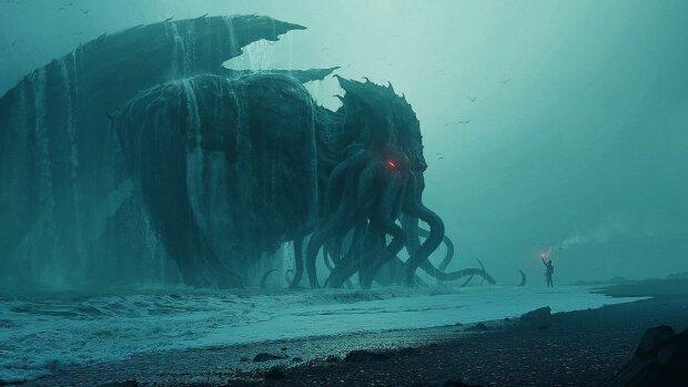 Гигантское морское чудовище атаковало человека, одно лишнее движение - конец: видео