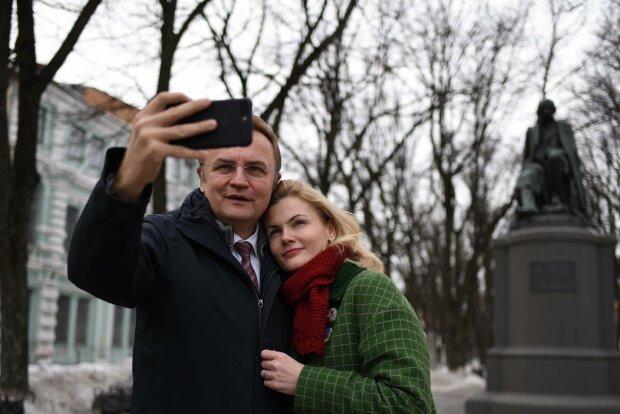Андрій Садовий з дружиною, фото: Главком