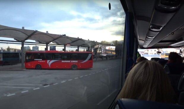 міжнародний автобус, скріншот з відео