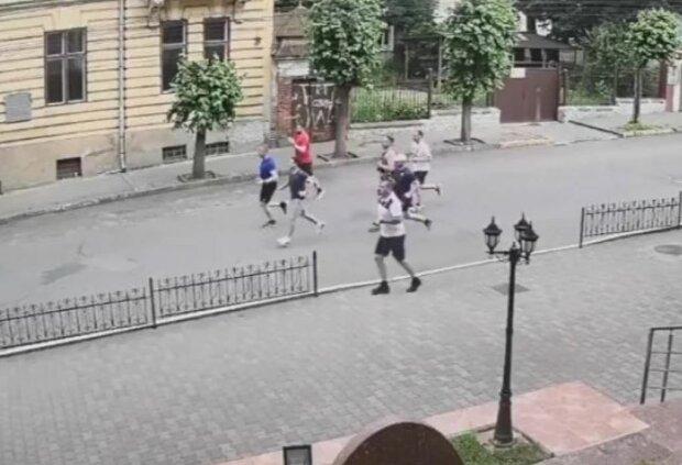 Пробіжка Зеленського у Чернівцях, скріншот відео