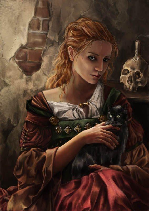 Замуж за Дьявола: как средневековая ведьма связалась с нечистым и родила кота