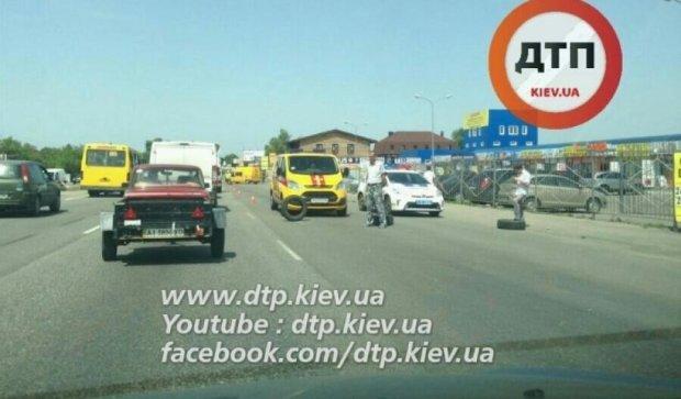 Киев встал в пробке из-за утечки газа на автозаправочной станции