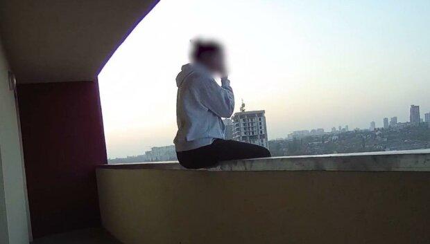 попытка самоубийства, скриншот с видео