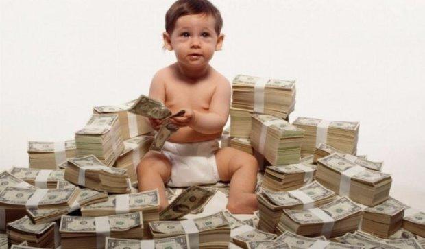 В Киеве живет двухлетний миллионер
