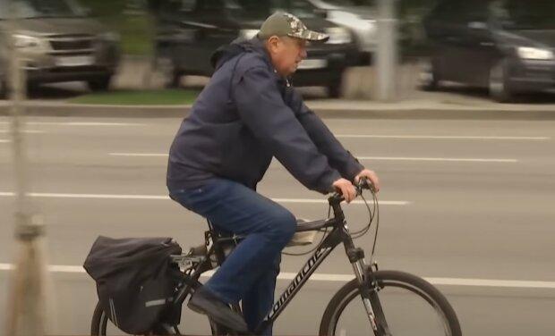 Велосипедист, скріншот з відео