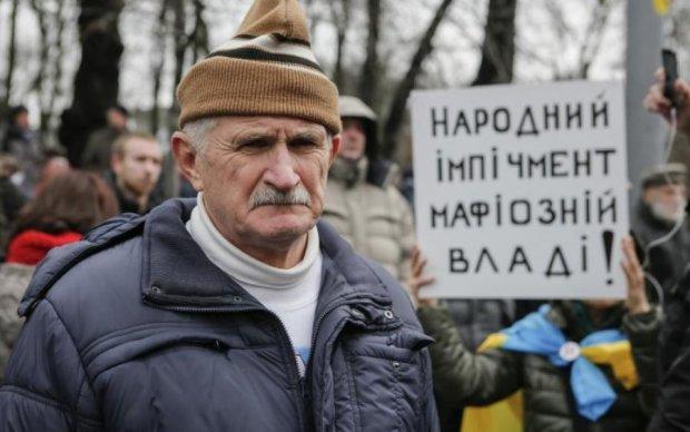 Центром Києва рухається колона з Саакашвілі: вражаючі кадри