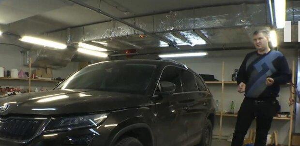 Киянин допомагає повернути вкрадені автомобілі, кадр з репортажу Спецкор: YouTube