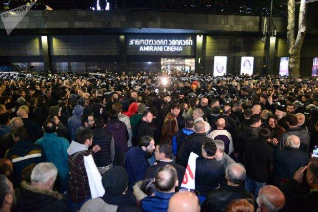 Акция протеста в Тбилиси, фото Getty Images