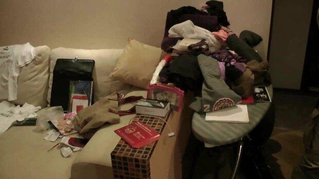 Погром в квартире, скриншот: YouTube