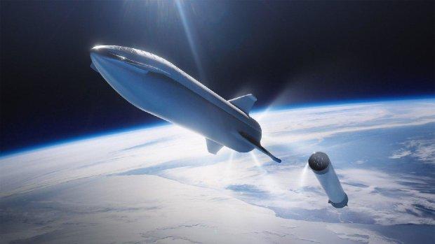"""Маск показал гигантскую ракету """"Starship"""" нового поколения"""