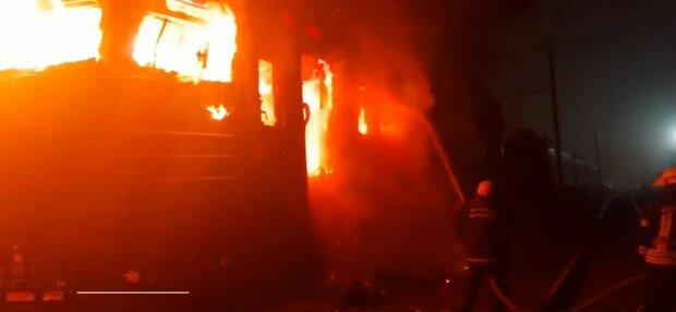 Пожар под Киевом, фото: скриншот из видео