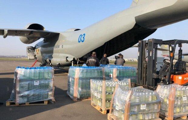 """Гуманитарная помощь Украины для Италии, фото: Telegram-канал """"Украина в шоке"""""""