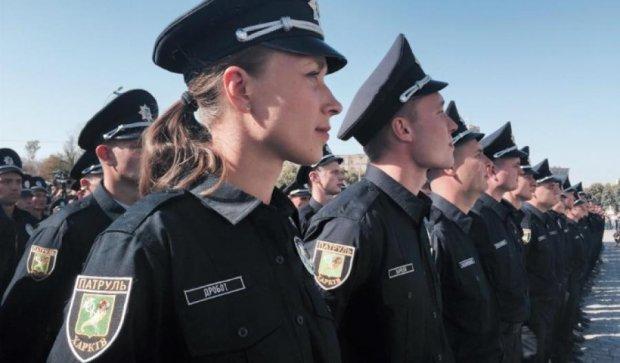 Харьковские полицейские совершили первое задержание