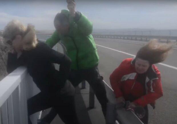 сильный ветер, скриншот из видео
