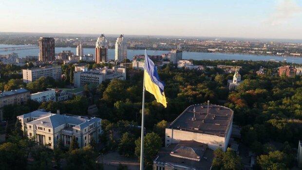 Флаг в Днепре / скриншот из видео