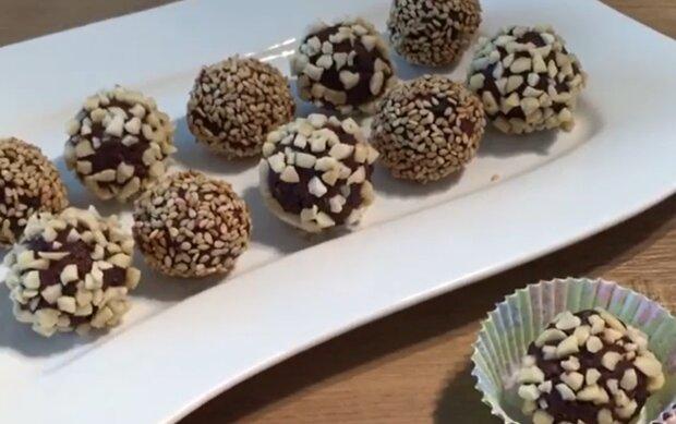 Конфеты с черносливом, кадр из видео