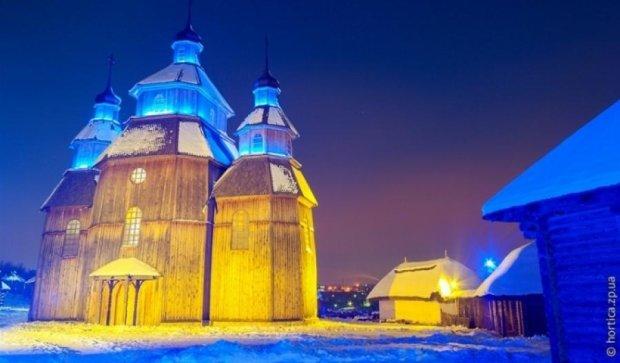 Заснеженная Запорожская Сечь (фото)