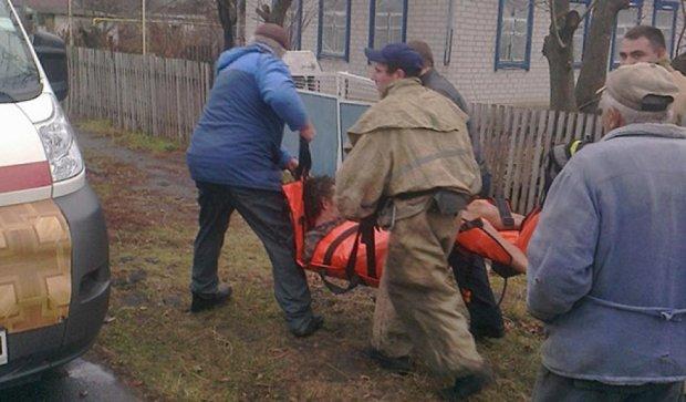 Спасатели Полтавщины вытащили из огня двух человек (фото)