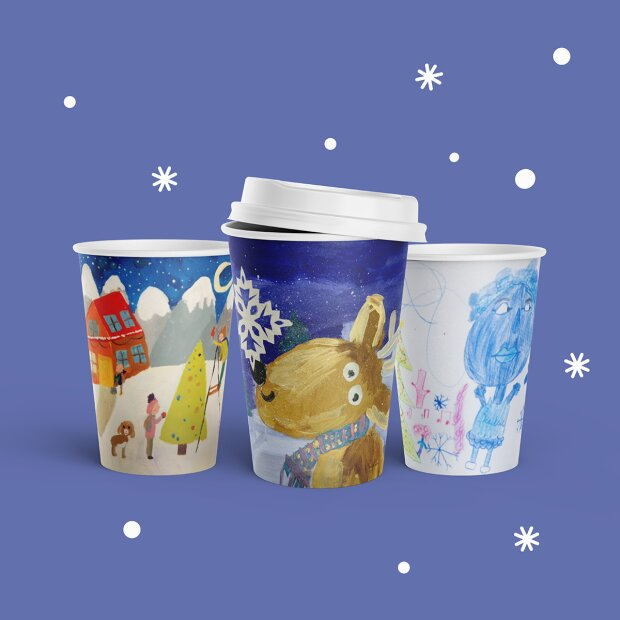 WOG выпустил вторую зимнюю коллекцию стаканчиков с рисунками детей - очень трогательно