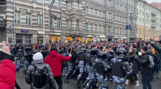 протесты в России, скриншот из видео