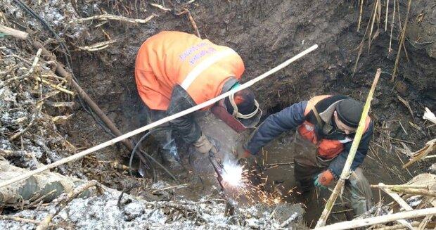 ремонт водопровода, фото с Facebook