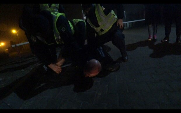 Задержания Ершова, фото Pitbull Kiev