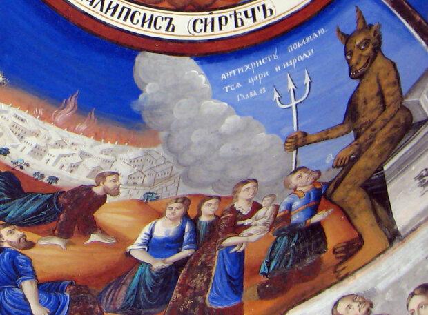 """""""Антихрист"""" - деталь з фрески православного Осогівського монастиря."""