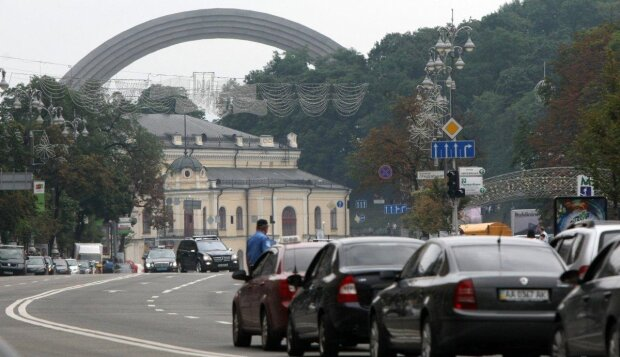затори в Києві, фото: Уніан