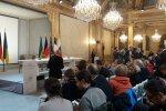 Нормандская четверка, пресс-конференция