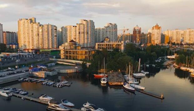 яхт-клуб, Київ, скріншот з відео