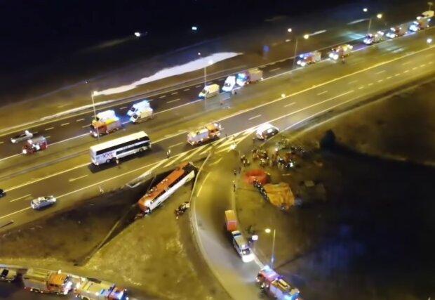 ДТП у Польщі, кадр з відео