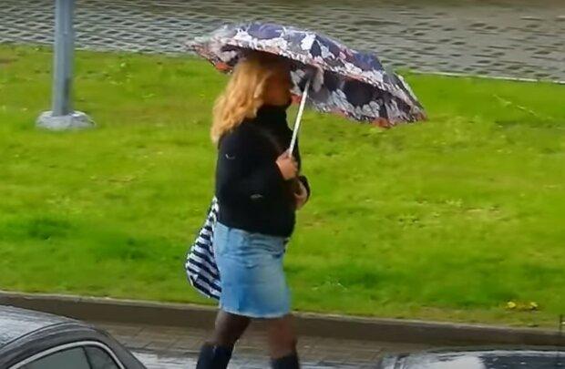 дождливая погода, скриншот из видео