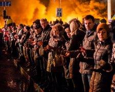 Революция Достоинства, годовщина на Майдане Независимости