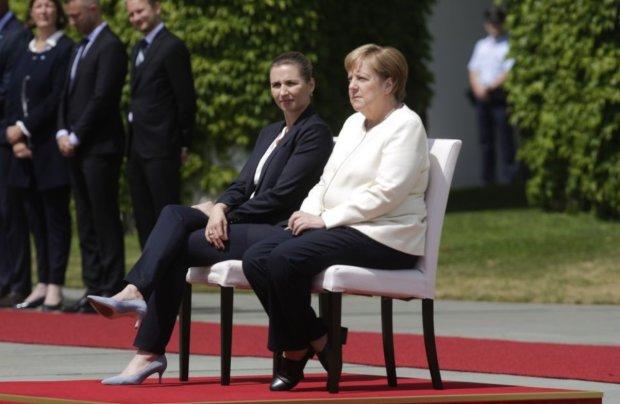 Меркель качает, как Пизанскую башню, Зеленский здесь ни при чем: одно видео объясняет все