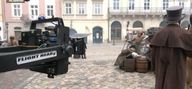У Львові знімають фільм, фото: скріншот з відео