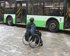 Українець на інвалідному візку, фото: Уніан