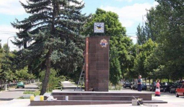 На Запоріжжі замість Леніна встановили годинник (відео)