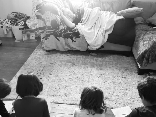 Майкл Вебер с детьми, фото: Майкл Вебер