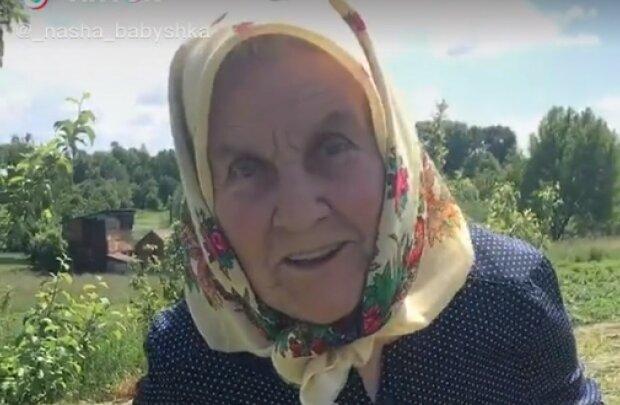 Бабуся з TikTok, скріншот з відео