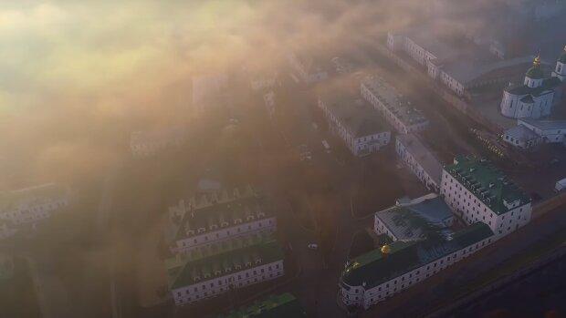 Туман у Києві, кадр з відео, зображення ілюстративне: YouTube