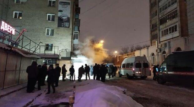 Пермь, прорыв трубы с горячей водой, скриншот: YouTube