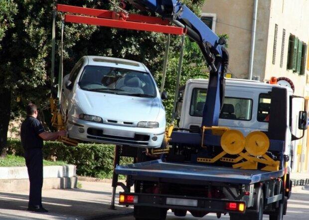 эвакуации автомобиля, фото:papajurist